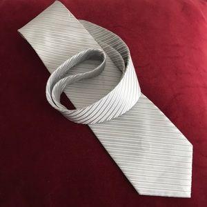 Perry Ellis silver stripe tie